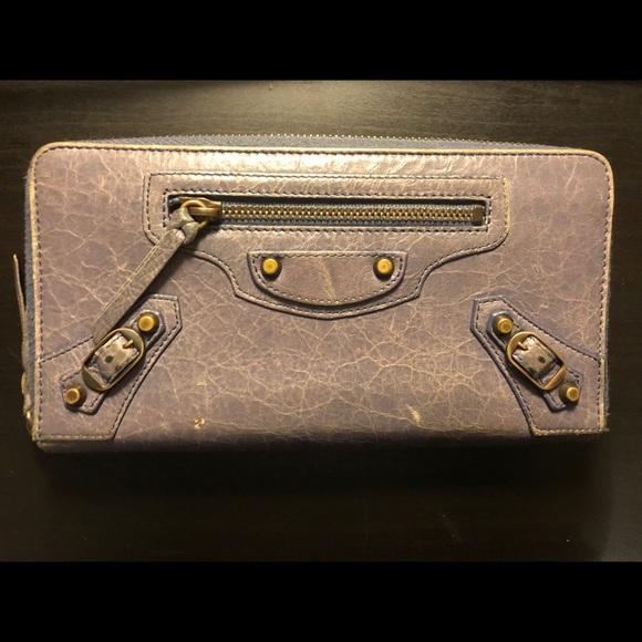 Balenciaga Handbags - Balenciaga Zip Around Leather wallet